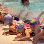 Předškoláci první lekce plavání